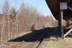Bahnsteigdach mit Gleis und Bahnsteig