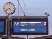 Zugzielanzeiger der Deutschen Bahn