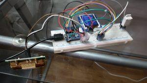 CO2-Sensor für Transport verklebt