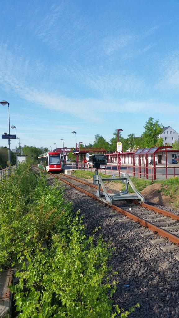 City Bahn im Bahnhof Burgstädt